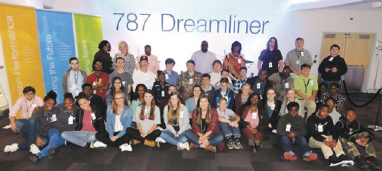 Students get hands-on experience at Boeing